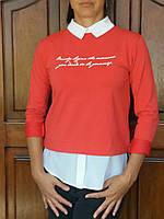 Женская кофта с воротничком, ,S,M,L р-ры, 240/210 (цена за 1 шт. + 30 гр.)