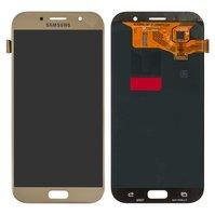 Дисплей для мобильного телефона Samsung A720F Galaxy A7 (2017), золоти
