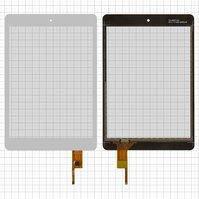 """Сенсорный экран для планшетов China-Tablet PC 7,85""""; Modecom FreeTab 7800 IPS, 7,85"""", 133 мм, 197 мм, 6 pin, емкостный, белый,"""