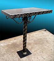 Стол на кладбище, ковка с гранитом