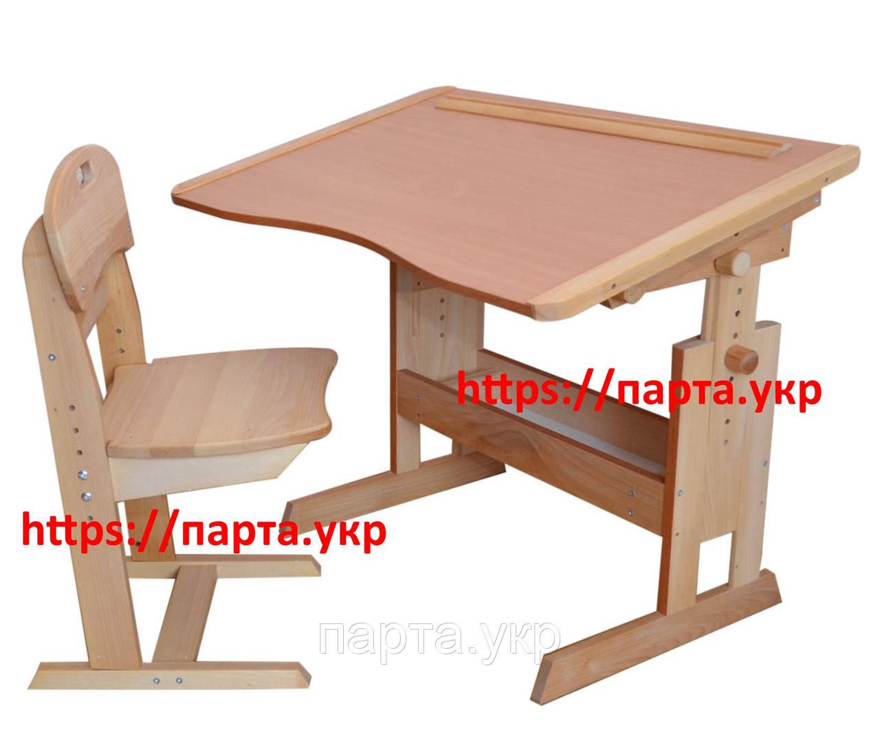 Комплект парта антисколиозная и стул растущий бук