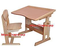 Комплект парта антисколиозная и стул растущий бук, фото 1