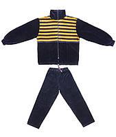 Спортивный костюм AVK №6D Темно-синий,желтый