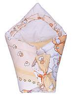 Конверт для новорожденных Мишка Салатовый