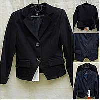 """Черный пиджак для девочки в школу """"№1"""", рост 122-146 см., 370/330 (цена за 1 шт. + 40 гр.)"""