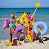 Надувные плотики, круги, пляжные матрасы, нарукавники, жилеты и аксессуары для купания