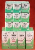 Этилон (Ethilon) 3-0, 45 см, с иглой 26 мм П обратно-режущей  W320