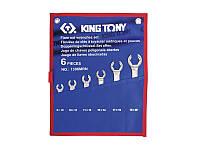 Набор ключей разрезных (силовых) 8-22мм KING TONY 1306MRN