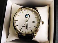 Мужские наручные часы BMW (БМВ) золото с белым циферблатом, фото 1