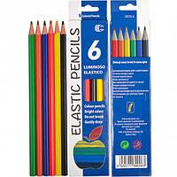 Набор цветных эластичных карандашей LUMINOSO ELASTICO 6 цветов Колорит