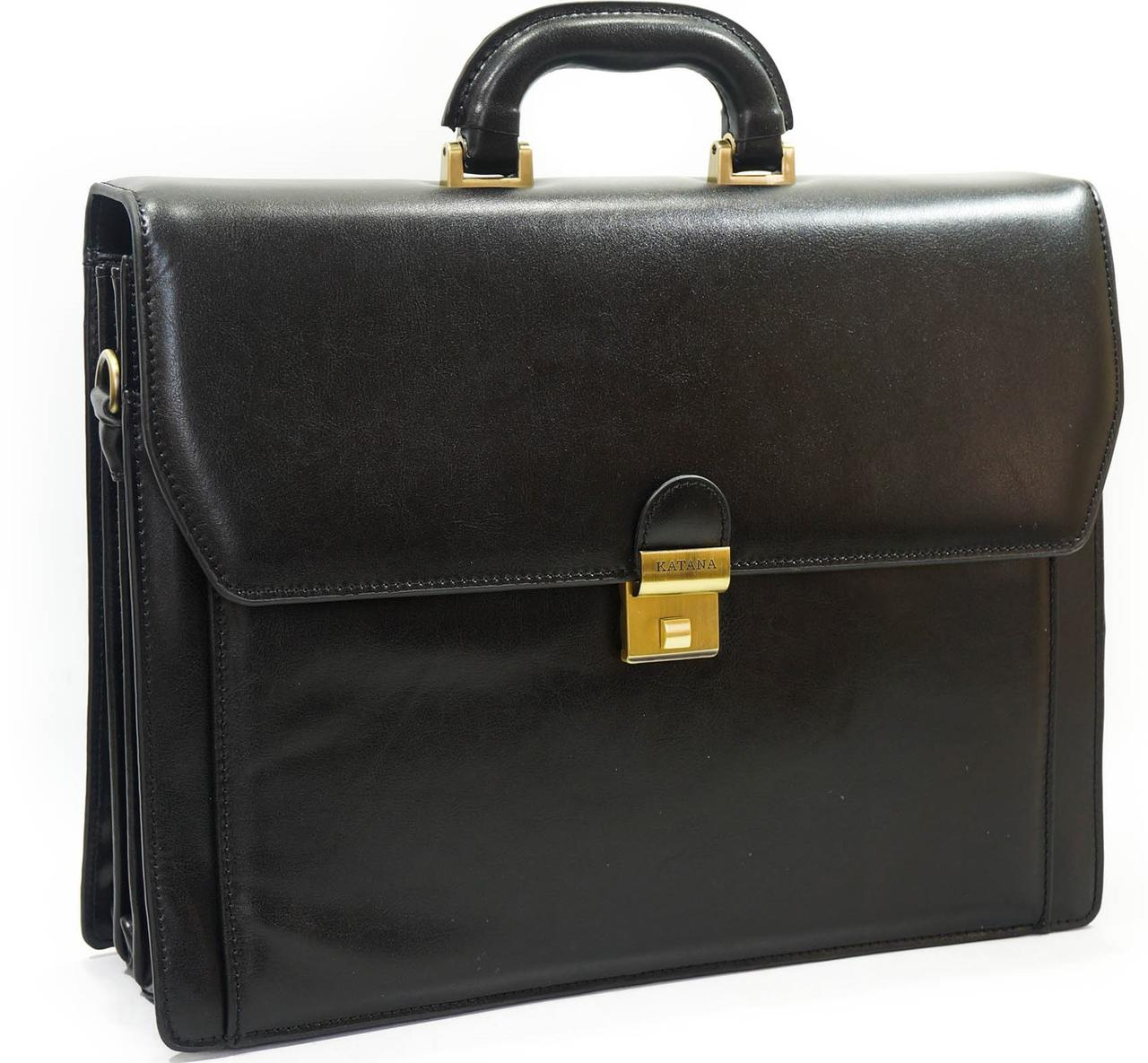 df036afe7367 Большой кожаный портфель Katana K63033-01, цена 3 439 грн., купить в ...