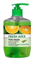 "Гель-мыло дой-пак  Green Tangerine & Palmarossa ""Fresh Juice"" 460 мл"