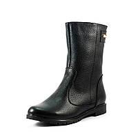 Ботинки зимние женские Vakardi V364 черная  кожа