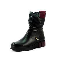 Ботинки зимние женские Vakardi V357 черная кожа