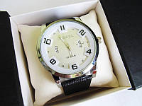 Мужские наручные часы Diesel ( Дизель ) хром с белым циферблатом