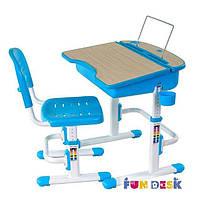 Комплект FunDesk Парта 70х55 см и стул-трансформеры для детей 3 - 12 лет ТМ FunDesk Голубой Capri Blue