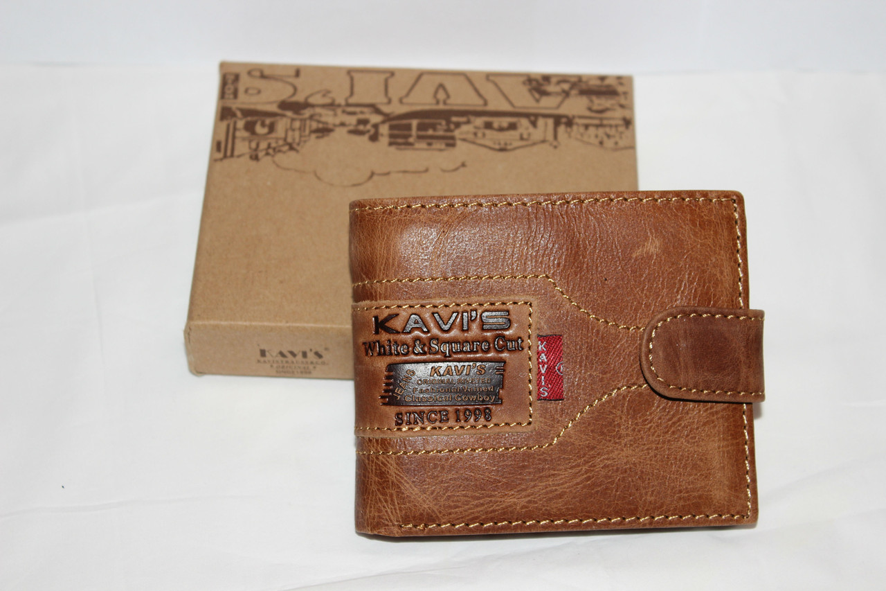 Кожаный кошелек Kavi's 4016