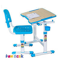 Комплект FunDesk Парта и стул-трансформеры PICCOLINO ІІ BLUE для детей 3 - 10 лет ТМ FunDesk Голубой PICCOLINO ІІ BLUE