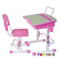 Комплект FunDesk Парта и стул-трансформеры Capri Pink для детей 3 - 12 лет ТМ FunDesk Розовый Capri Pink