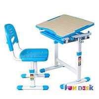 Комплект FunDesk Парта и стул-трансформеры PICCOLINO BLUE для детей 3 - 10 лет ТМ FunDesk Голубой PICCOLINO BLUE