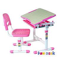Комплект FunDesk Парта и стул-трансформеры PICCOLINO PINK для детей 3 - 10 лет ТМ FunDesk Розовый PICCOLINO PINK