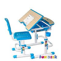 Комплект растущей мебели Парта 70х55 см и стул-трансформеры для детей 3 - 12 лет ТМ FunDesk Sorriso Blue