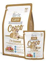 Корм Brit Care Cat Cocco I'am Gourmand для привередливых кошек с уткой и лососем, 400 г