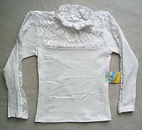 Детская школьная блузка на девочек 7-11 лет Украина