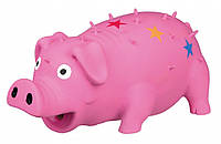 Игрушка Trixie Pig для собак латексная, свинья с пищалкой, 16 см, фото 1