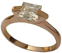 Золотое кольцо с накладкой Бриллиант