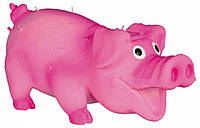Игрушка Trixie Bristle Pig для собак латексная, свинья с пищалкой, 10 см, фото 1