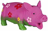 Игрушка Trixie Pig для собак латексная, свинья с пищалкой, 20 см