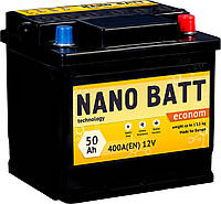 Акумулятор NANO BATT Econom - 50 +лівий 400 A