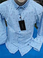 Мужская рубашка Zara man голубая