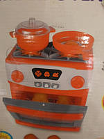 Детская игровая электроплита 1000 с посудой , фото 1