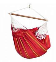Подвесной сидячий гамак La Siesta Curramberaоранжево-красный, из 100% хлопка, нагрузка до 160 кг.CUL21-2