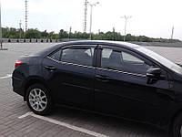 Комплект ветровиков на Corolla 2013+ (4шт)