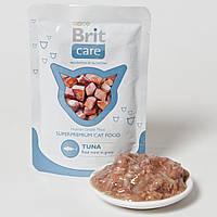 Консервы Brit Care Tuna Pouch для взрослых кошек с тунцом, 80 г