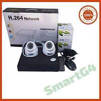 Комплект видеонаблюдения на 2 внутренние цветные камеры AHD 720P, Комплект наблюдения на две камеры AHD 720P