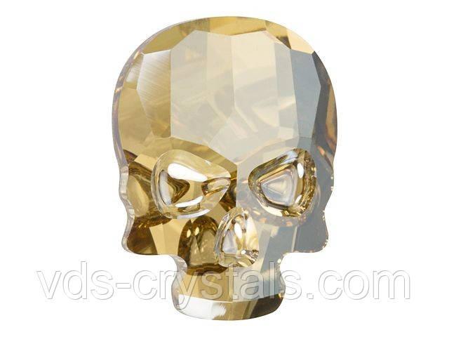 Камни Сваровски клеевые Череп 2856 Crystal Golden Shadow