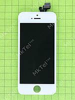 Дисплей iPhone 5 с сенсором, белый copyAA (LT)