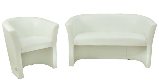 Кресло Бум, Лаки белый в комплекте с диваном