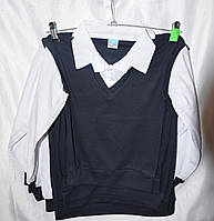 Рубашка обманка для мальчика в школу  6-14 лет