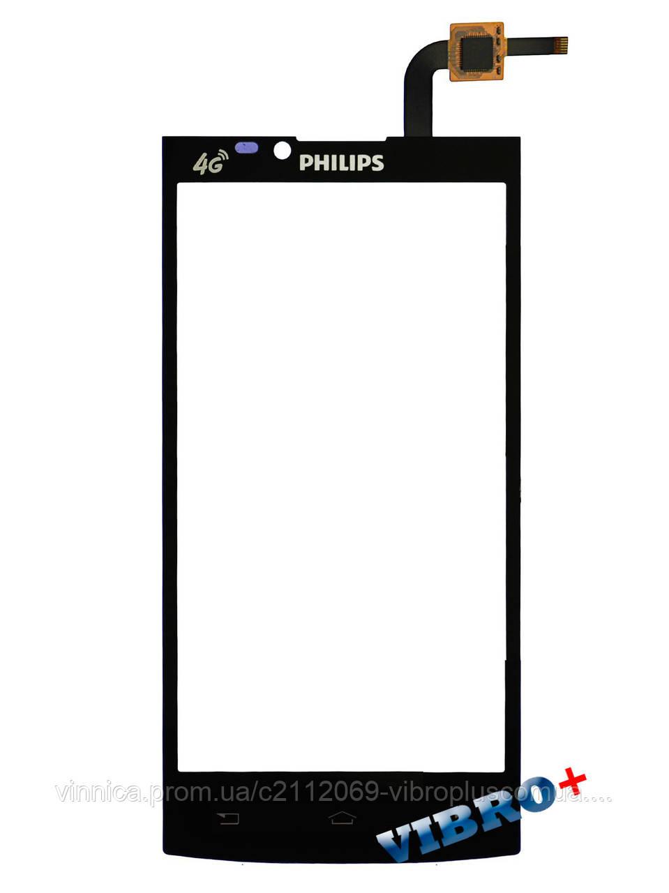 Тачскрин (сенсор) Philips S398, black (черный)