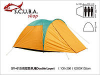 Палатка 3-х местная двухслойная с тамбуром, фото 1