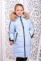 Пуховик детский с мехом для девочки