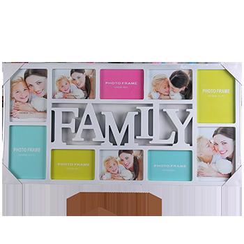 Рамка колаж в двох кольорах на 10 фото Родина