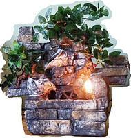 Фонтан настольный подвесной декоративный Пейзаж деревья с горшочками БЕЗ подсветкИ МЕЛЬНИЦА  35=35=16