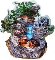 Фонтан настольный подвесной декоративный Пейзаж деревья подсветка шар 35=35=16