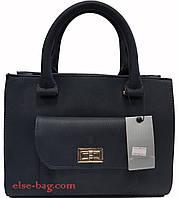Женская сумка с накладным карманом